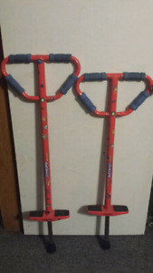 2 POGO STICKS, child 60 to 100 lbs or teen/adult 90 to 160 lbs