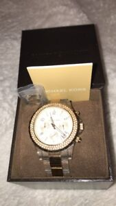 Michael Kors Gold and Clear Band in Box