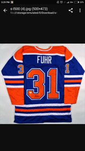 """Brand new ... Grant Fuhr Signed Oilers Jersey Inscribed """"HOF 03"""""""