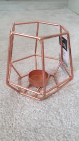 Copper tealight holders
