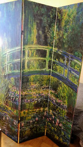 Beautiful Monet Room Divider (dbl sided)