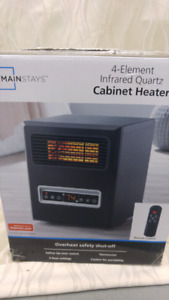 4-Element Infrared Quartz Cabinet Heater