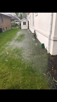 Waterproofing basement , excavating, grading yards,