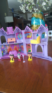 Dora castle with characters