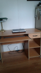 beautiful solid wood desk w shelves