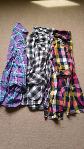 3 PLAID SHIRTS