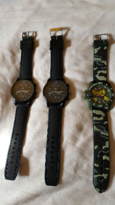3 Brand New Wrist Watches for Men