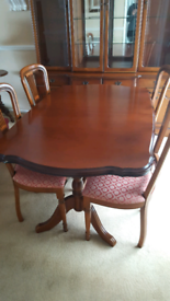 Barker & Stonehouse Rossmore cherry wood dining table and chairs