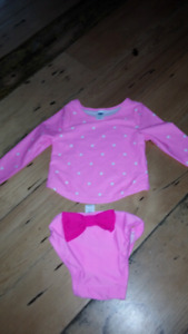 Baby Girl 12-18months bathing suits-EUC