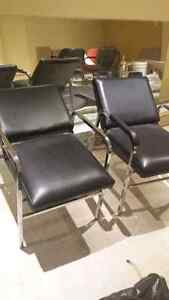 BARBER HEAD WASH CHAIRS(2) GOOD CONDITION
