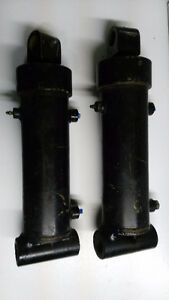 "Matching Hydraulic Cylinders 3"" bore 1 1/4"" rod 3 3/4"" stroke"