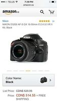 Nikon d3200 SLR Camera with Wireless Adapter