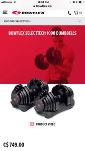 Bowflex SELECTTECH 1090 DUMBBELLS, Bench, rack - best offer