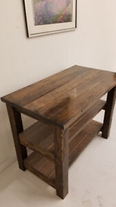 Rustic Reclaimed Solid Wood Kitchen Island