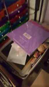 3 lg boxes of scrapbooking supplies
