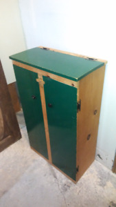 Solid wooden cupboard for sale.