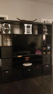 Ikea Expedit TV Storage Media Wall Unit + Mount + Baskets + MORE
