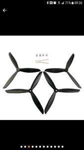 2 set d'hélices triple racing Drone. (Racing propellers)