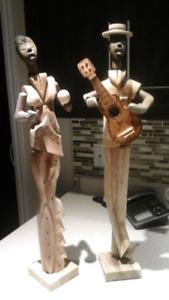Statues en bois 24 pouces de haut