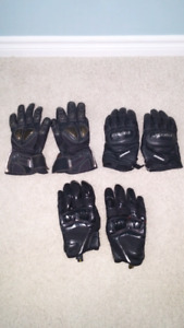 3 pair bike gloves