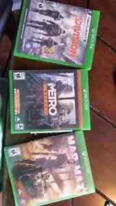 Xbox one games. Division. Metro. Mad max