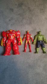 Marvel figures hulk - ironman and hulk smasher(all ineractive)