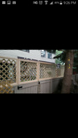 Fenced patios siding and more