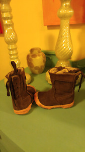 Please Mum Suede Spring Boots Toddler Girl Size 4