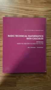 Basic Technical Mathematics with Calculus Centennial College