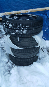 Winter tires 225/45/R18 on rims . Near New $600