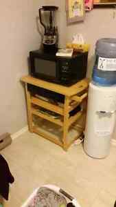 Microwave stand 3 draws and serving tray