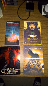 Tilt cards Batman Begins, Lord of the Rings, ID, Texas Chainsaw