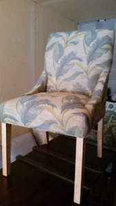 2 Armless Upholstered Chairs