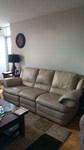 All leather reclining couch!