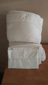 Double size flannel sheet set/cases
