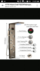 High tech advanced technology  shower panel