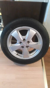 Tires and Aluminum rims for bone stock or street 5x100 London Ontario image 3