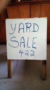 DOUBLED SIDED HINGED WHITE BOARD EASEL - REDUCED PRICE Belleville Belleville Area image 1