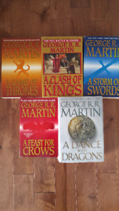 Collection de 5 livres Game of Thrones