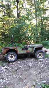 Body jeep willys 1956