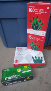 Red and Green Christmas lights. New in boxes