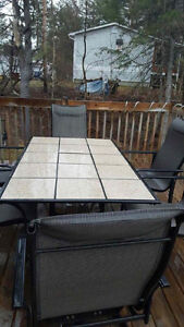 Patio set without umbrella/posibility to have one