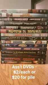 Assorted DVDs. $2 each or $20 for stack.  London Ontario image 1