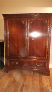 Furniture-Mahogany Armoire,Curio,Desk,Chair,Pantry,Night Table
