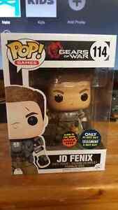 Gears of War Jd fenix best buy glow funko pop figure