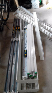 """16  48"""" Fluorescent Light Fixtures-singles and doubles"""