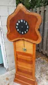 Live Edge  handcarved saw Clock Kitchener / Waterloo Kitchener Area image 1