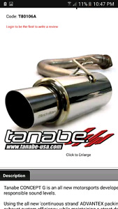 Tanabe Axel Back Exhaust