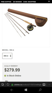 Redington path 9 fly rod and real combo 4piece with case