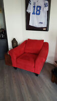 Microfibre Red Chair - Awesome Chair